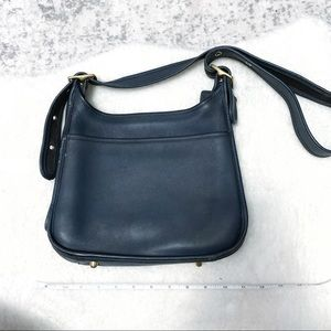 Coach vintage navy leather shoulder crossbody